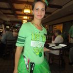 Our 'Irish' server...Kristy
