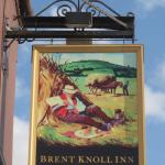 Pub sign at Brent Knoll Inn