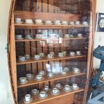 A charming display of maritime tea cups