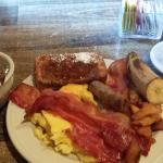 $13.99 breakfast buffet plus $2.50 for coffee.