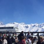 Terrasse avec vue exceptionelle sur le Mont Blanc et les pistes