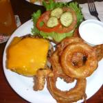 The Wex Burger with onion rings
