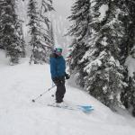 Happiness is deep snow