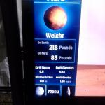 Kinda cool only weigh 83 pounds on Mars