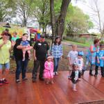 Some of our kids with down Syndrome at their party.