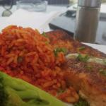Grilled salmon w/ Mexican Rice