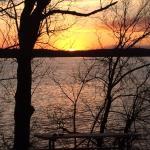 Sun setting over Lake Bakley