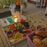 Our 'welcome basket' full of fresh bread, cheese, meats, etc...