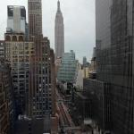 View of Empire State Building from our room 2137