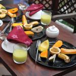 breakfast on terrace
