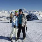 Lisa and Jay in Belle Plagne on a lesson with Gui, Oxygene ...
