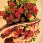 HOBNOB steak taco (top), shark taco (bottom). 04-29-15