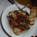 Clams in an Italian sauce