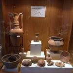 Inside the museum are remains found during excavation.