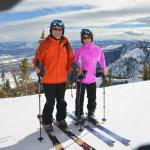 At the top of Sublette lift
