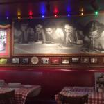 One of the many photos that grace the walls of Buca