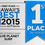 Voted Hawaii's Best Stand Up Paddle Shop