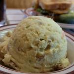 Potato salad served like ice cream!