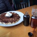 Specialty pancake with maple mascarpone