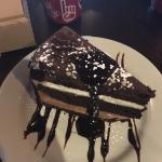 Dark & white mousse cake. So insanely delicious and satisfying. A definite must here.