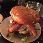 House Burger with cured bacon