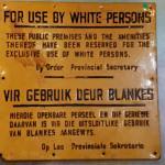 old apartheid sign