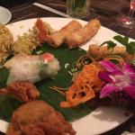appetizer platter, so- so taste