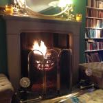Fire in the sitting room