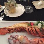 homard au four légèrement arrosé d'huile d'olive