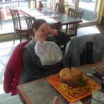 My 48 yrold sister a modern day Wimby will gladly pay you Tues. for a burger today.