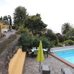 Pool, Garten, Parkplatz, abgeschlossener, ruhiger Traumgarten