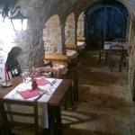 Una parte del ristorante è all'interno di una grotta