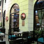 The 'outside' seating area at Blue Basil Thai Restaurant 902/Mar/16).