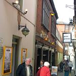 One of the oldest pubs in Hereford in one of the narrowest streets!
