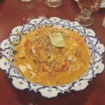 Delicious Noodles in Coconut Peanut Sauce