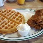 Chicken & Waffles, with 2 Eggs.