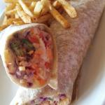 This was an avocado wrap, one of their monthly specials, with fries.