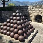 Cannonball pyramid.