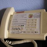 Conference phone? Not many business execs staying here. It said room 106 (we were in 113)