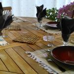 La Piverdière table colorée