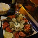 Excellent and large sea food salad, good for 4 persons