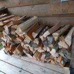 Wood for the fireplace is provided!