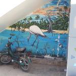 fresque à la sortie