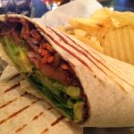 Avocado Tomato Wrap - Okay, liked the flavor, but squished out bottom.