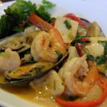 THE SEAFOOD BASIL IS UNLIKE ANYTHING YOU WILL HAVE. THE BASIL IS CRUNCHY AND THE SAUCE IS TASTEF