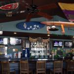 Beach decor, nice bar