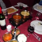 Repas (le restaurant ne sert pas d'alcool mais il autorise qu'on apporte son vin)