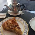 Gluten free apple and cinnamon cake - a very large slice!