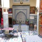 Central hall of the riad.