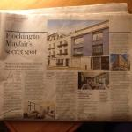 Article from the Daily Telegraph about Shepherd Market, Mayfair (where Piccolo's is )